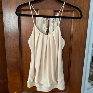 Nude tank top blouse